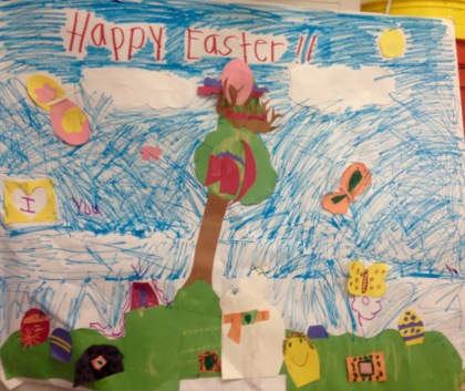 Easter poster created by the young childrens group