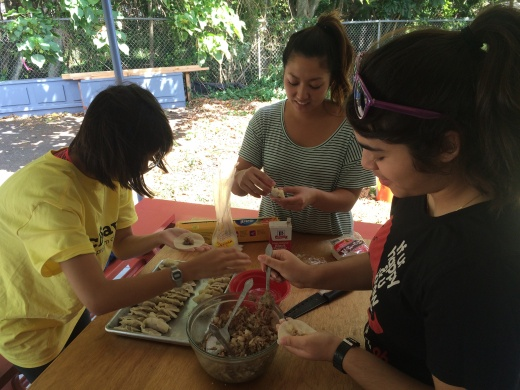 We are making dumplings  for Mongolian Hot Pot.