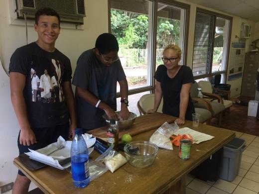 Multi-tasking (cook & smile!)